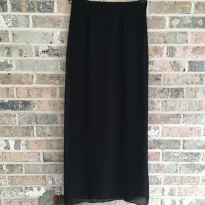 Black Skirt Sheer Mini Skirt Lining